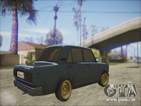 VAZ 2107 Black Jack pour GTA San Andreas vue arrière