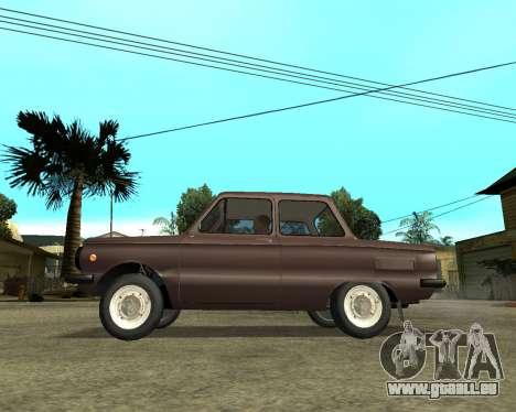 ZAZ 968M Arménie pour GTA San Andreas sur la vue arrière gauche