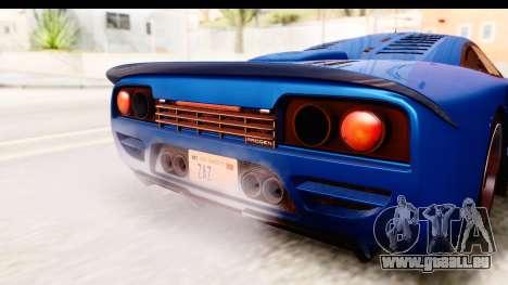 GTA 5 Progen Tyrus IVF pour GTA San Andreas vue intérieure