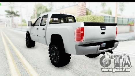 Chevrolet Silverado Duramax 2012 pour GTA San Andreas laissé vue