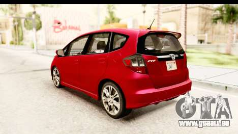 Honda Fit Sport 2009 pour GTA San Andreas sur la vue arrière gauche