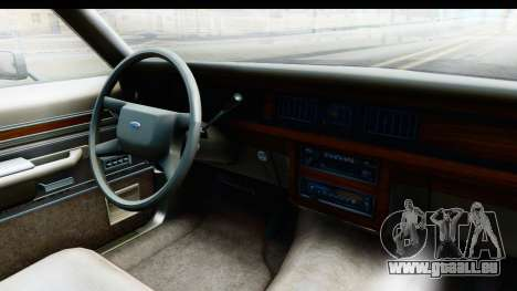 Ford LTD Crown Victoria 1987 für GTA San Andreas Innenansicht