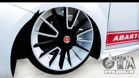 Fiat Punto Abarth für GTA San Andreas Rückansicht