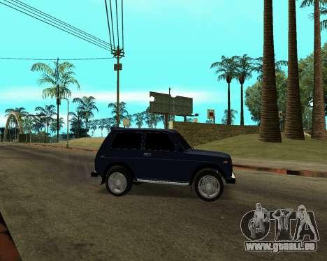 Niva 2121 Armenian pour GTA San Andreas vue de dessus