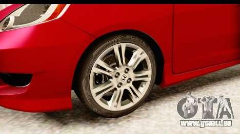 Honda Fit Sport 2009 pour GTA San Andreas vue arrière