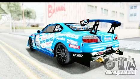 Nissan Silvia S15 D1GP Blue Toyo Tires pour GTA San Andreas laissé vue