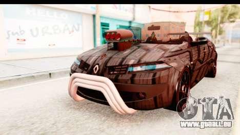 Renault Megane Spyder Full Tuning v2 pour GTA San Andreas sur la vue arrière gauche