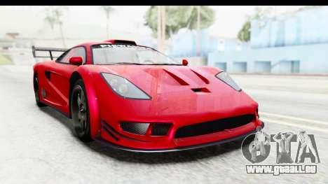 GTA 5 Progen Tyrus pour GTA San Andreas vue de droite