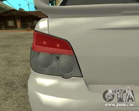 Subaru Impreza Armenian für GTA San Andreas Innenansicht
