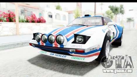 GTA 5 Lampadati Tropos Rallye pour GTA San Andreas vue de côté