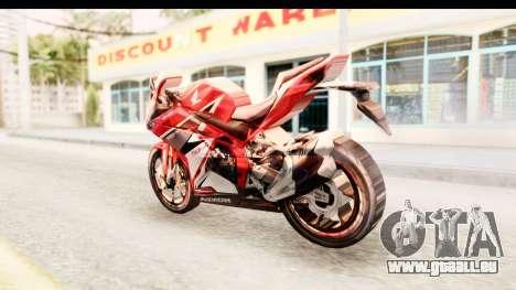 Honda CBR250RR pour GTA San Andreas laissé vue