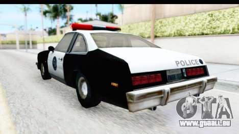 Pontiac Ventura LSPD from Silent Hill 2 pour GTA San Andreas sur la vue arrière gauche