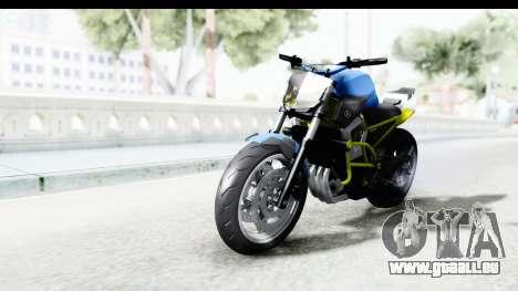 Yamaha Cage Sic pour GTA San Andreas sur la vue arrière gauche