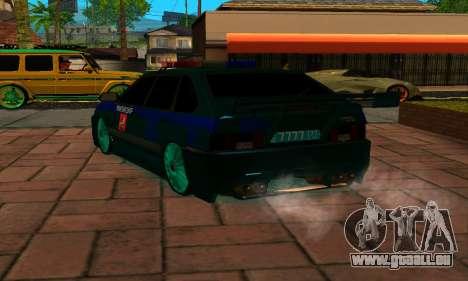 VAZ 2114 DPS pour GTA San Andreas sur la vue arrière gauche