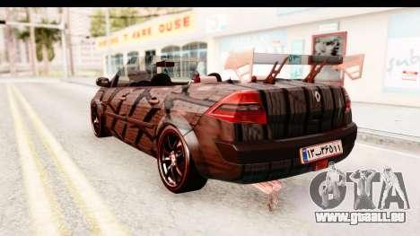 Renault Megane Spyder Full Tuning v2 pour GTA San Andreas laissé vue