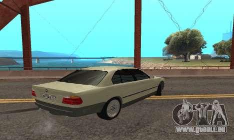BMW 730 pour GTA San Andreas vue de droite