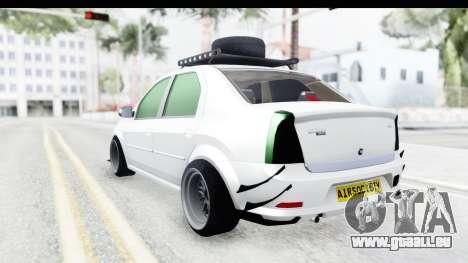 Dacia Logan Coil pour GTA San Andreas laissé vue
