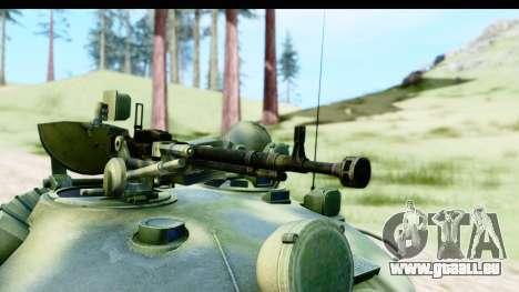 T-62 Wood Camo v3 pour GTA San Andreas vue arrière