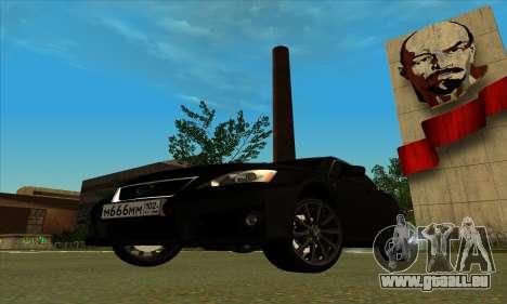 Lexus IS-F pour GTA San Andreas vue de droite