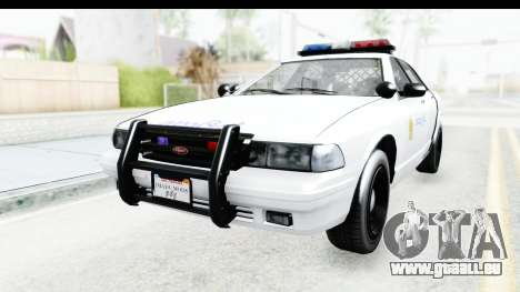 Sri Lanka Police Car v3 pour GTA San Andreas sur la vue arrière gauche