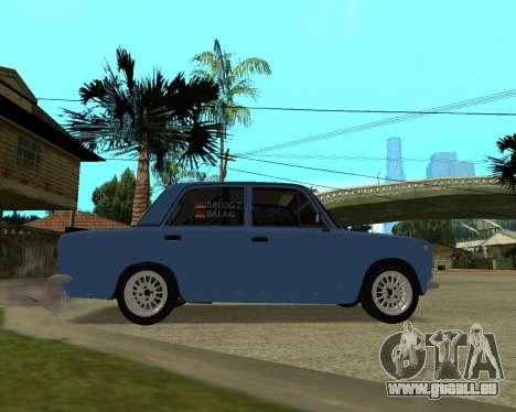 VAZ 2101 Arménie pour GTA San Andreas sur la vue arrière gauche