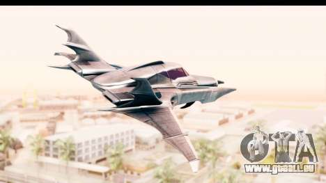 Batman Arkham Asylum - Batwing für GTA San Andreas linke Ansicht