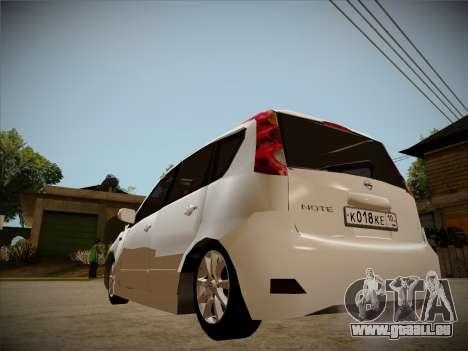 Nissan Note 2008 pour GTA San Andreas vue de côté