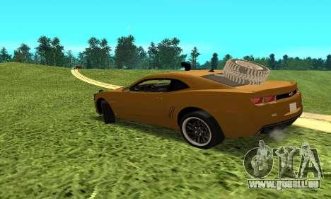 Chevrolet Camaro 2010 pour GTA San Andreas laissé vue