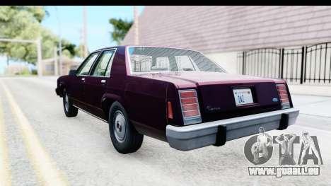 Ford LTD Crown Victoria 1987 pour GTA San Andreas laissé vue