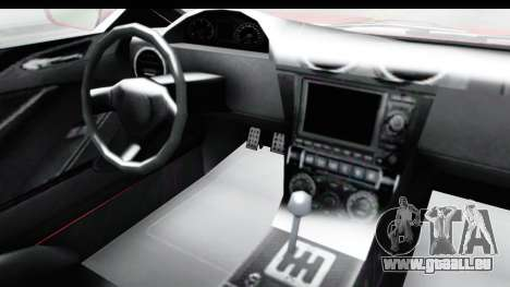 GTA 5 Dewbauchee Seven 70 IVF pour GTA San Andreas vue intérieure