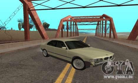 BMW 730 pour GTA San Andreas sur la vue arrière gauche