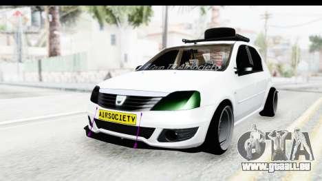Dacia Logan Coil pour GTA San Andreas sur la vue arrière gauche