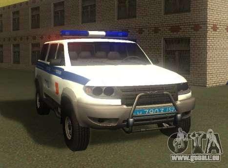 UAZ Patriot der Polizei-v1 für GTA San Andreas