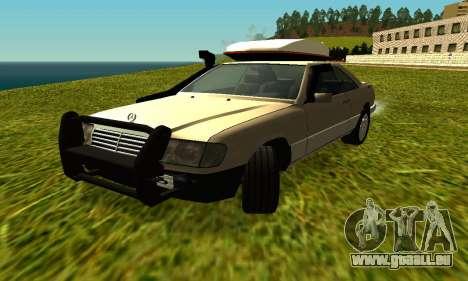Mercedes Benz 320E pour GTA San Andreas laissé vue