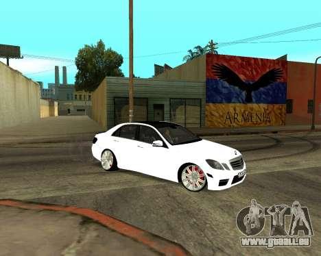 Mercedes-Benz E250 Armenian pour GTA San Andreas roue