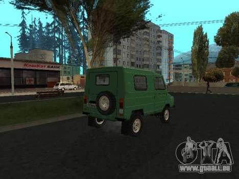 LuAZ 969М v2 pour GTA San Andreas sur la vue arrière gauche