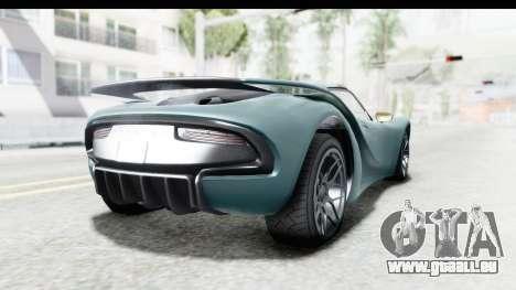 GTA 5 Pfister 811 pour GTA San Andreas laissé vue