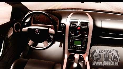 Pontiac GTO 2006 pour GTA San Andreas vue intérieure