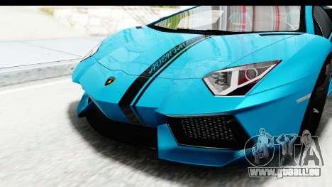 Lamborghini Aventador LP700-4 2012 pour GTA San Andreas vue de côté