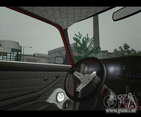 Lada 2107 Jiguar pour GTA San Andreas sur la vue arrière gauche