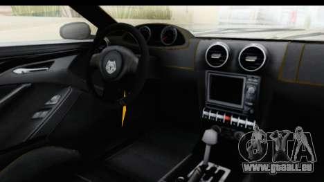 GTA 5 Ocelot Lynx SA Lights PJ pour GTA San Andreas vue intérieure