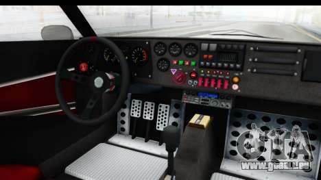 GTA 5 Lampadati Tropos IVF pour GTA San Andreas vue intérieure