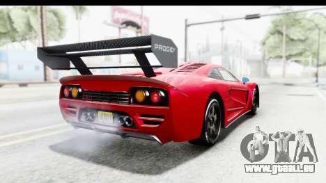 GTA 5 Progen Tyrus pour GTA San Andreas sur la vue arrière gauche