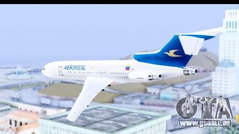 Boeing 727-200 Aeropostal pour GTA San Andreas laissé vue