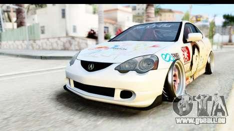 Acura RSX Type S 2002 Nisekoi Itasha für GTA San Andreas