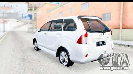Toyota Avanza Veloz 2012 v1.1 für GTA San Andreas linke Ansicht