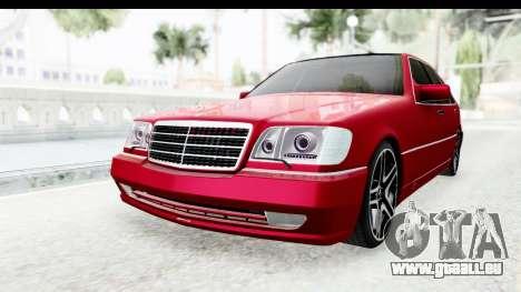 Mercedes-Benz W140 S600 AMG für GTA San Andreas rechten Ansicht