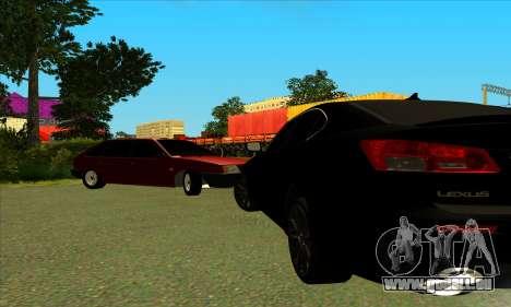 Lexus IS-F pour GTA San Andreas laissé vue