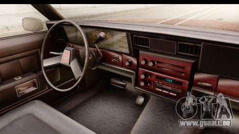 Chevrolet Caprice 1987 pour GTA San Andreas vue intérieure