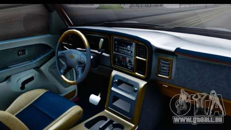 Chevrolet Silverado 2005 Low pour GTA San Andreas vue intérieure